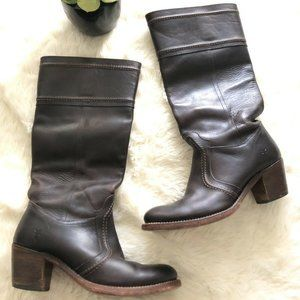 Frye Jane Boots Womens 8.5 Dark Distressed Brown